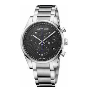 Calvin Klein卡尔文·克莱因Steadfast 系列 银黑色男士气质腕表 K8S27141