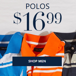 Nautica精选POLO衫一律$16.99