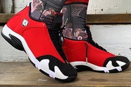 红色法拉利!Air Jordan 14 全新配色上脚不凡!