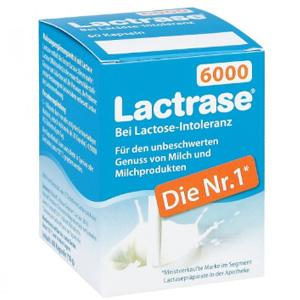 德国Lactrase 乳糖不耐受婴幼儿成人乳糖酶 60粒