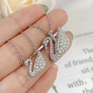 Swarovski施华洛世奇珍珠银色大天鹅项链