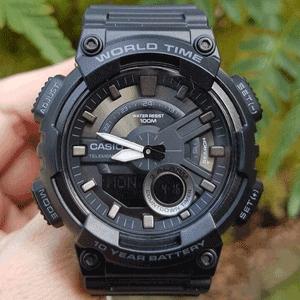 CASIO卡西欧world Time系列AEQ-110W男士腕表