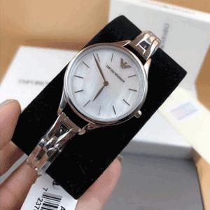 Emporio Armani阿玛尼AR11054银色女士气质腕表
