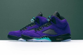 "不再跳票!Air Jordan 5 ""Alternate Grape""最新细节图!"