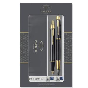 Parker 派克 IM系列 纯黑丽雅金夹钢笔+原子笔 礼盒套装
