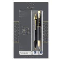 降价!Parker 派克 IM系列 纯黑丽雅金夹钢笔+原子笔 礼盒套装