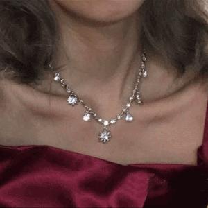Givenchy纪梵希 水钻星星造型项链