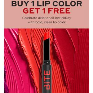 Bite beauty现有国际口红日精选唇部彩妆买一送一促销