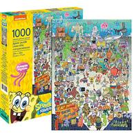 美国Aquarius 海绵宝宝1000片拼图