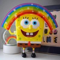 SpongeBob SquarePants 正版nickelodeon 彩虹海绵宝宝手办 8英寸