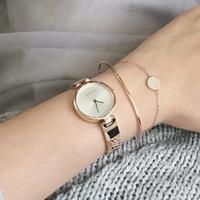 【断货】CALVIN KLEIN Authentic不锈钢表带石英手表玫瑰金 K8G23646