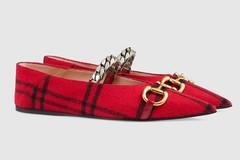 新鞋 | Gucci 印花马衔扣芭蕾舞鞋