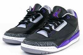 "复古风味!Air Jordan 3 ""Court Purple"" 11月发售!"