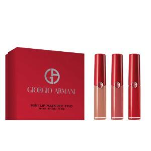 补货!Giorgio Armani 阿玛尼红管唇釉3件套套盒