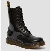 限UK3码!Dr. Martens 1490经典10孔黑色漆皮马丁靴