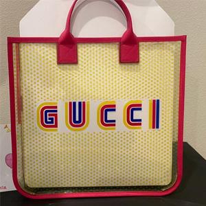 GUCCI GG 透明款方形手提包