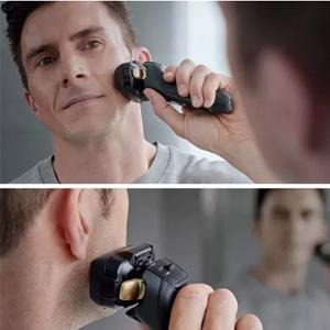 补货!Panasonic松下 ES-LV97-K811 旗舰级 带清洁桶电动剃须刀