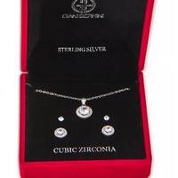 补货!Giani Bernini 锆石项链耳钉3件套