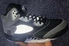 "拼接材质!Air Jordan 5 ""Anthracite""真帅!"