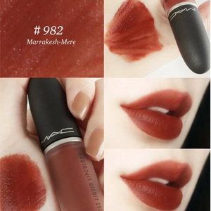 MAC魅可POWDER KISS尤雾唇釉982#MARRAKESH-MERE