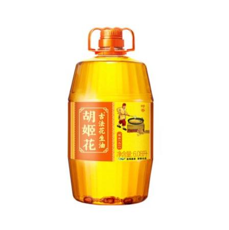 100元包邮!胡姬花 古法花生油 6.08L+海天酱油 1.28L