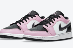 "Air Jordan 1 Low GS ""Light Arctic Pink""乔丹低帮运动鞋"