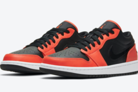 Air Jordan 1 Low SE Black Orange细节图新曝光