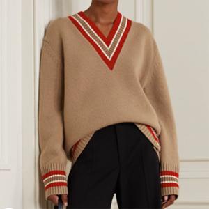 BURBERRY Oversized wool 条纹毛衣