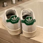 降价!adidas Originals SuperStan大童款绿尾贝壳头