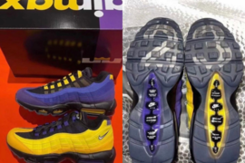 "LeBron James x Nike Air Max 95 ""Lakers""联名系列细节图新曝光"