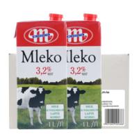 64.9元包邮!妙可 原装进口牛奶全脂1L*12瓶