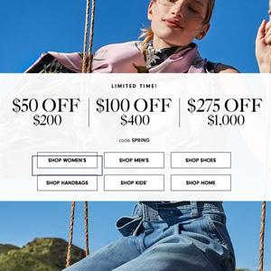 Neiman Marcus网站购正价时尚单品最高立减$275促销