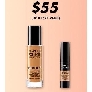 Make Up For Ever官网现有底妆搭配遮瑕直接$55促销