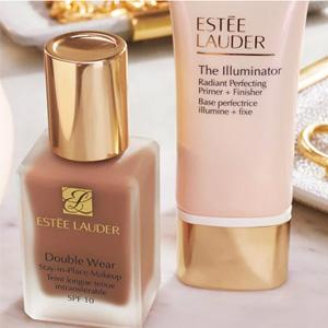 Estee Lauder英国官网购任意粉底送价值£28.5的妆前乳正装