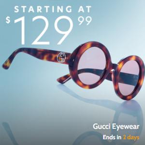 Gilt网站现有Gucci 经典墨镜低至$129闪促