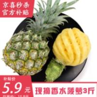 京东百亿补贴 多款水果好价 4.9撸3斤菠萝