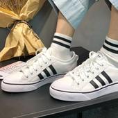 Adidas Originals三叶草Nizza大童款板鞋