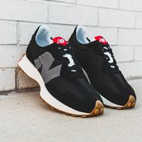 New Balance新百伦327男款黑灰复古休闲跑鞋
