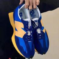 New Balance新百伦327大童款蓝色复古休闲跑鞋