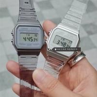 Casio Unisex Digital 中性款透明果冻表带手表
