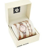 Anne Klein安妮·克莱因 AK / 3394BHST 女士手表套装 玫瑰金色
