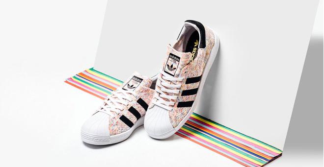 buy popular 99edd c630a 大码福利!Adidas Superstar Retro 80s PrimeKnit男款休闲鞋,3折 ...
